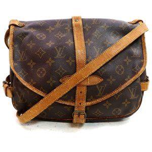Auth Louis Vuitton Saumur 30 Crossbody #3481L18